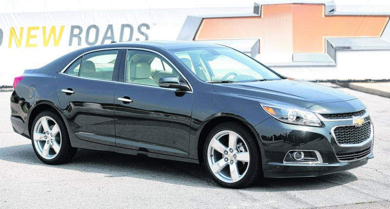 The 2014 Chevrolet Malibu is unveiled Friday in Detroit. The Malibu is getting a quick makeover from General Motors.