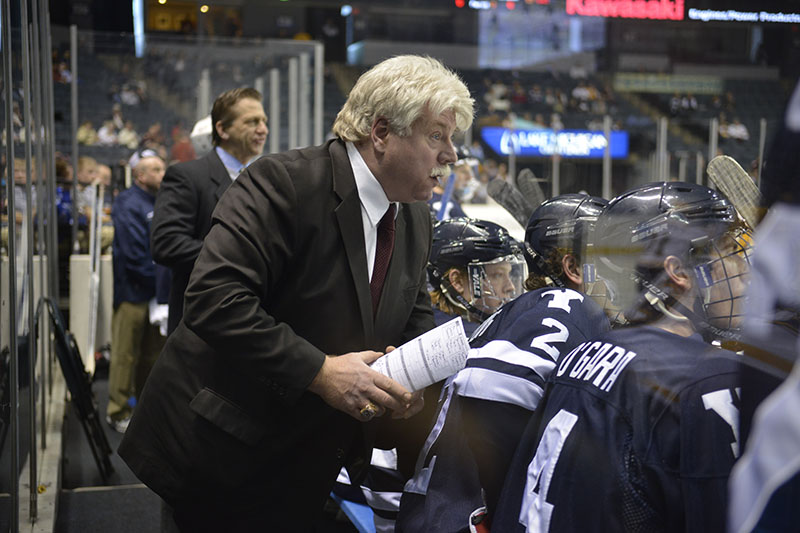 """""""Red"""" Gendron, assistant men's hockey coach at Yale University, has been named the new head coach at the University of Maine."""