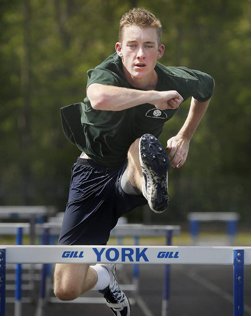 Tom Reid, the top seed in both Class B hurdles races, is one of the primary reasons why York has a chance to win the boys' state championship Saturday.