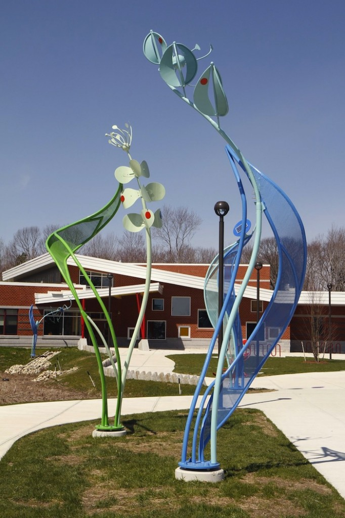 In this 2011 file photo, Portland's Ocean Avenue Elementary School entrance, with an art installation in the foreground. Facing overcrowding for a second year at Ocean Avenue Elementary School, the Portland School Board voted Tuesday, June 25, 2013 to carve out two neighborhoods on the edges of the school's existing community and have new kindergartners there go to either East End or Hall elementary schools.