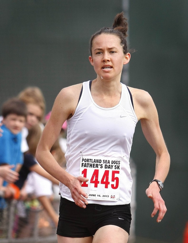 Hayley O'Malley of Ardmore, Pa., was the first female finisher with a time of 18 minutes, 39 seconds.