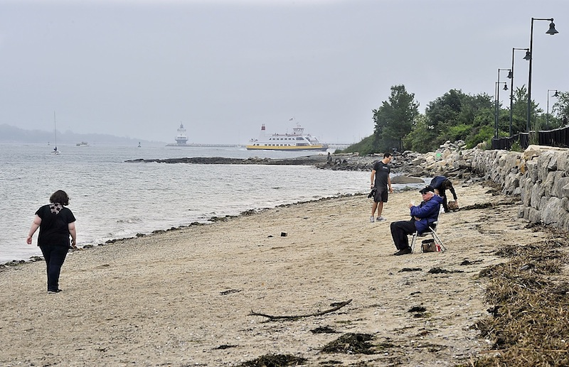People Enjoy East End Beach In Portland On Thursday June 27 2017 As A
