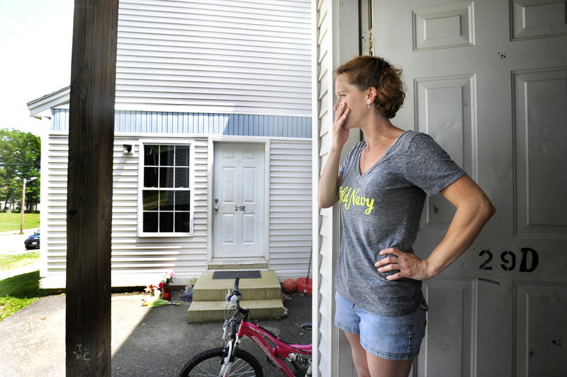 Erika Hart of Bath, Maine comments on her neighbors, whose 9-month-old baby on Monday.