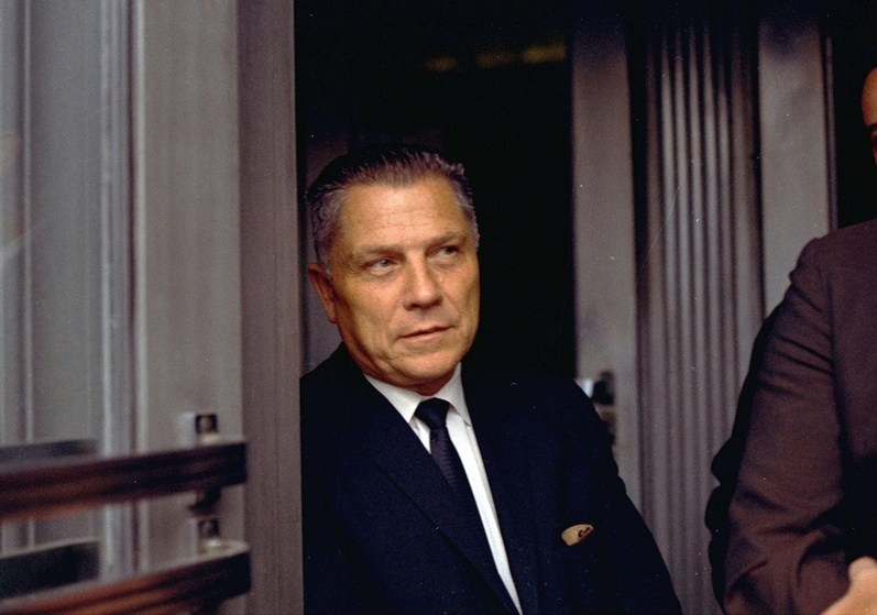 Teamsters Union leader James Hoffa is shown in Chattanooga, Tenn.