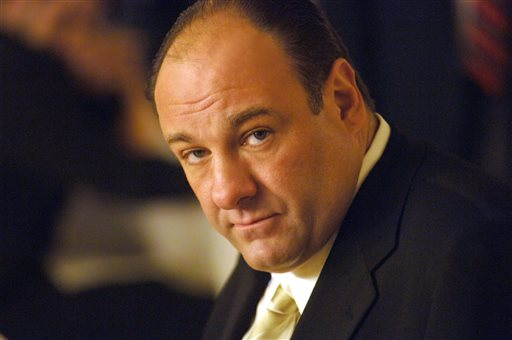 An undated photo released by HBO of actor James Gandolfini in his role as Tony Soprano, head of the New Jersey crime family portrayed in
