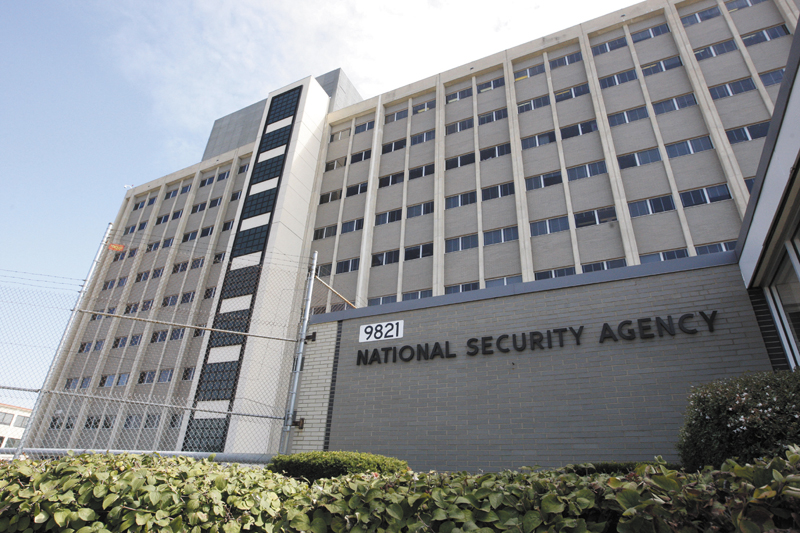 This Sept. 19, 2007, file photo, shows the National Security Agency building at Fort Meade, Md. The National Security Agency may keep the e-mails and telephone calls of citizens and legal residents if the communications contain