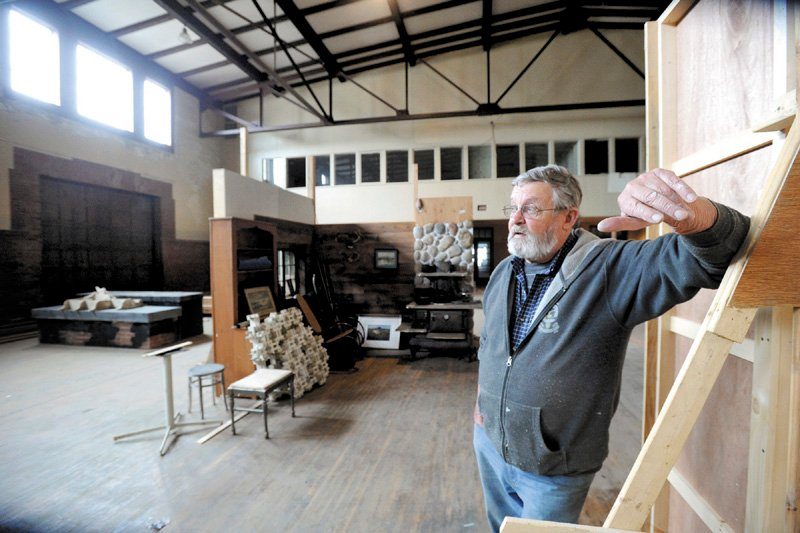 Eric Matheson is working to convert the South Portland Armory, seen here on May 22, into a movie sound stage.