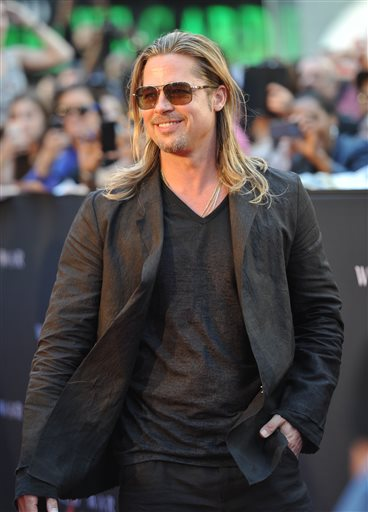 "Actor Brad Pitt attends the premiere of ""World War Z"" in Times Square on Monday in New York."
