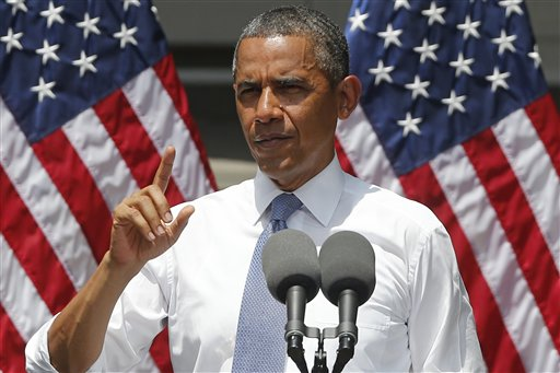 President Barack Obama speaks about climate change on Tuesday at Georgetown University in Washington.