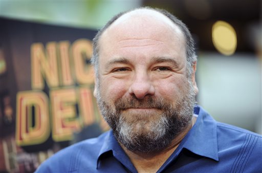 """A May 20, 2013, photo of James Gandolfini at the L.A. premiere of """"Nicky Deuce"""" in Los Angeles."""