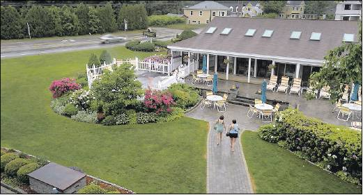 The Meadowmere Resort in Ogunquit, seen Friday, uses environmentally friendly means to tend its gardens. Ogunquit may ban chemical pesticides, fertilizers and herbicides to protect the town's natural resources.