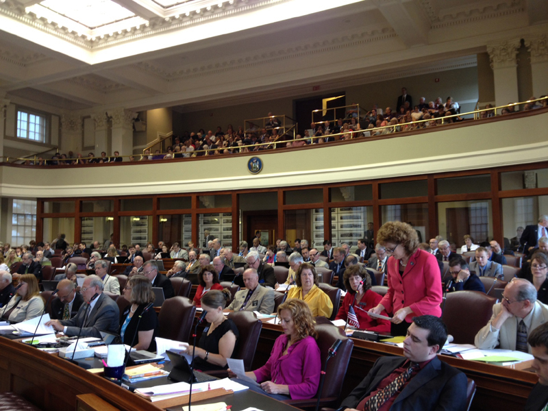 The Maine House debates the state budget Wednesday morning.