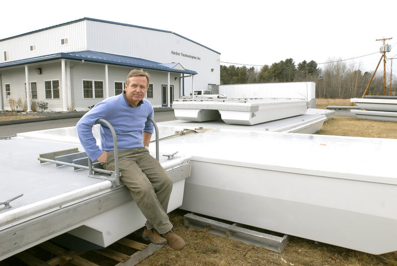 In this January 2007 file photo, Martin Grimnes, president of Harbor Technologies in Brunswick. Grimnes' company has designed large, oddly shaped panels that will help support a bridge that's being built in Norway as part of a $500,000 contract.