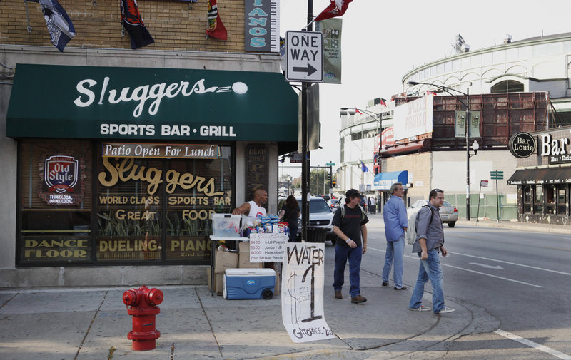 The planting of a phony bomb outside the Sluggers bar near Wrigley Field in Chicago, shown in a file photo, in 2010 led to the sentencing of Sami Samir Hassoun last week to 23 years in prison.