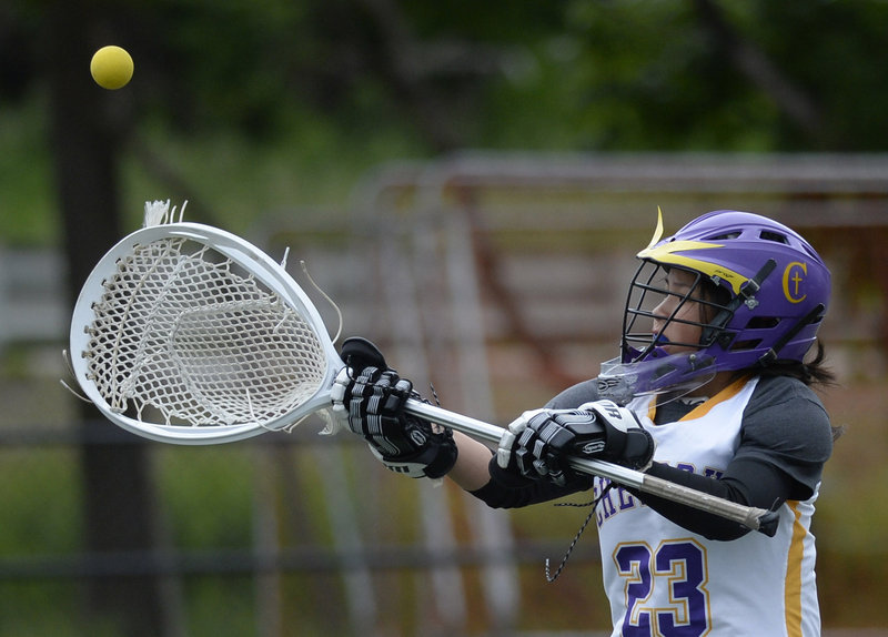 Goalie Hope Correia and her Cheverus teammates have reached the Class A girls' lacrosse state final for the first time and will play Massabesic in Saturday's championship game.
