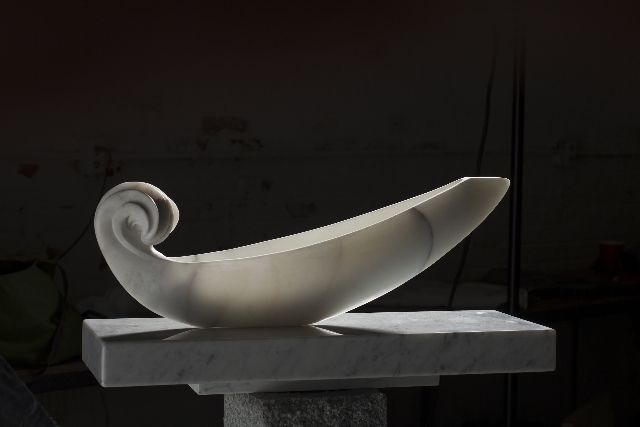 """Lucent Journey,"" marble, by Constance Rush."