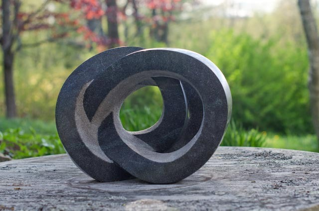 """Gyre"" granite, by Miles Chapin."