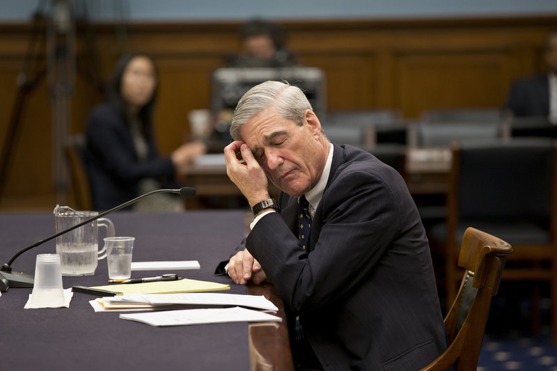 FBI Director Robert Mueller pauses Thursday during an exchange with Rep. Louie Gohmert, R-Texas, over the suspects in the Boston Marathon bombings.