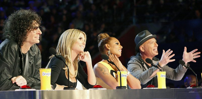 "Howard Stern, left, Heidi Klum, Mel B. and Howie Mandel are the judges on NBC's ""America's Got Talent,"" which this month launched its eighth season. Klum and Mel B. are the two new panelists this year."