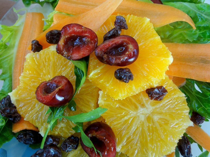 Carrot and citrus salad