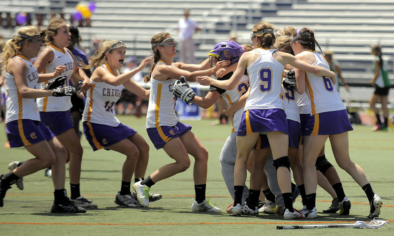 Cheverus had not won a state championship in Class A girls' lacrosse. Well, that changed Saturday with a hard-fought and satisfying 8-7 victory against Massabesic at Fitzpatrick Stadium.
