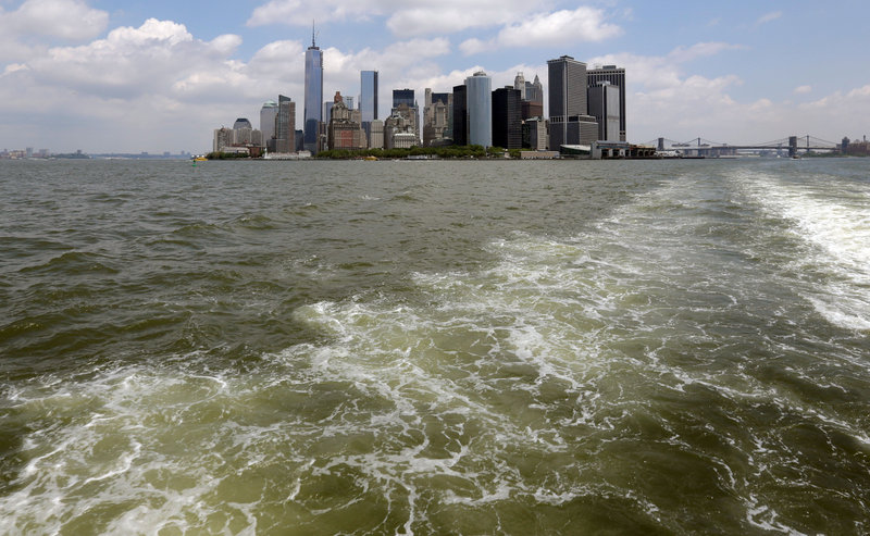 Giant removable floodwalls would be erected around lower Manhattan, and levees, gates and other defenses could be built elsewhere around the city under a plan proposed by Mayor Michael Bloomberg to protect New York from storms.