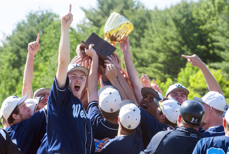 There was a point when the Westbrook baseball team had to address the reasons it wasn't playing as well as it should. Problems addressed and a month later, Class A state title won, with a 2-0 victory against Messalonskee.