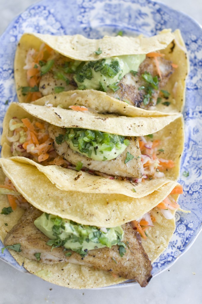 This particular fish taco recipe calls for tilapia fillets, but you can substitute any fish that you like.