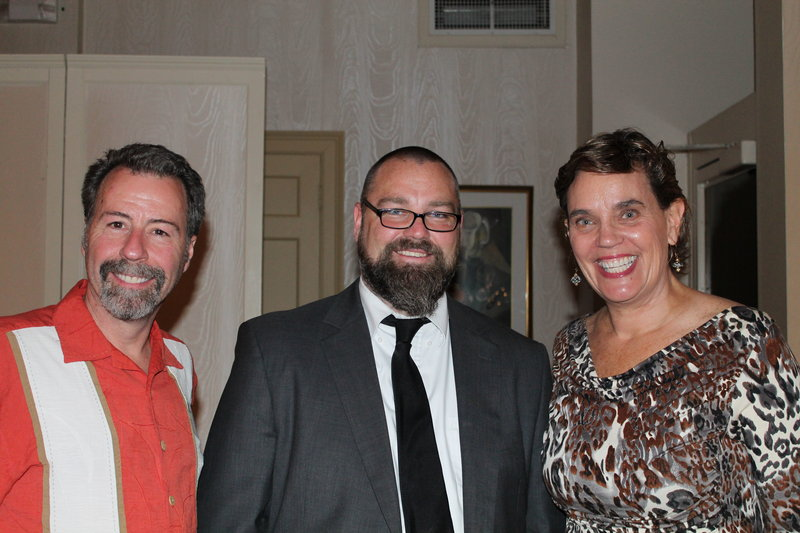 Tom McPherson of Tom McPherson Photography with Matt Caffelle, board member and creative director at Garrand, and Sarah Downs, board secretary and owner of Downs Creative & Copywriting Services.