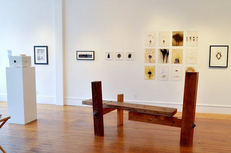 """The """"Sixth Anniversary Show"""" continues through June 30 at Aarhus Gallery in Belfast. The show features the work of Kevin Johnson, Mark Kelly, Richard Mann, Wesley Reddick and Willy Reddick."""