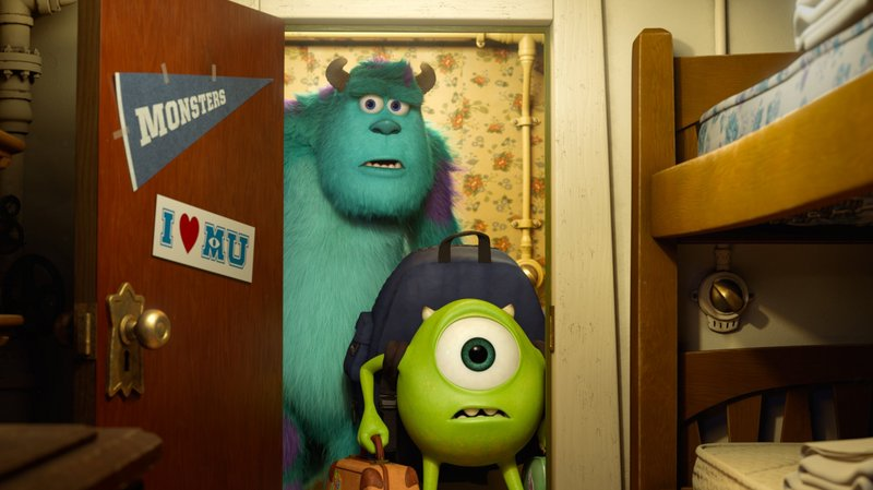 "Sulley and Mike, above, in a scene from ""Monsters University,"" a prequel to 2001's box office and critical hit ""Monsters, Inc."""