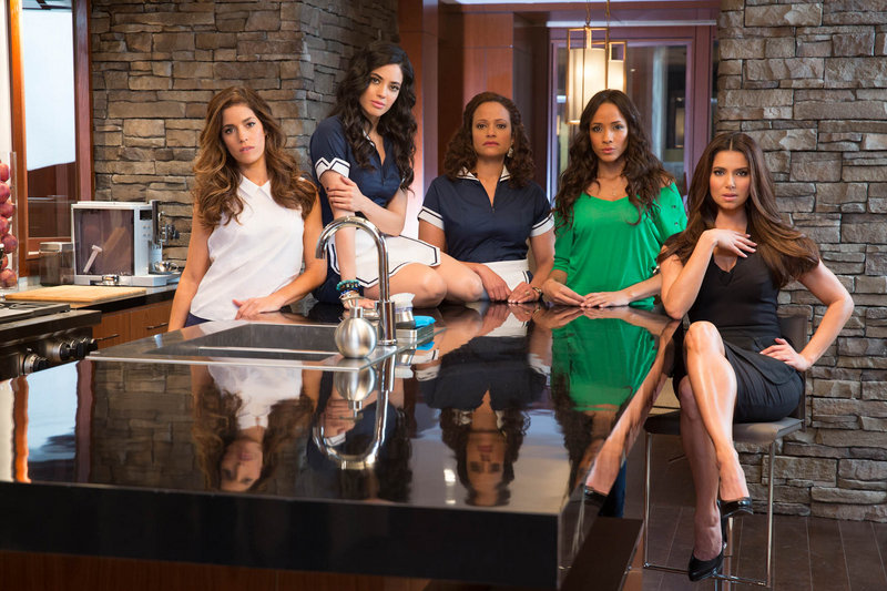 "The cast of ""Devious Maids,"" a new series premiering Sunday on Lifetime, includes, from left, Ana Ortiz, Edy Ganem, Judy Reyes, Dania Ramirez and Roselyn Sanchez."