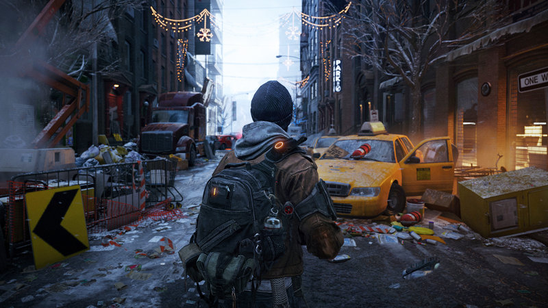 "A scene from ""Tom Clancy's The Division."""