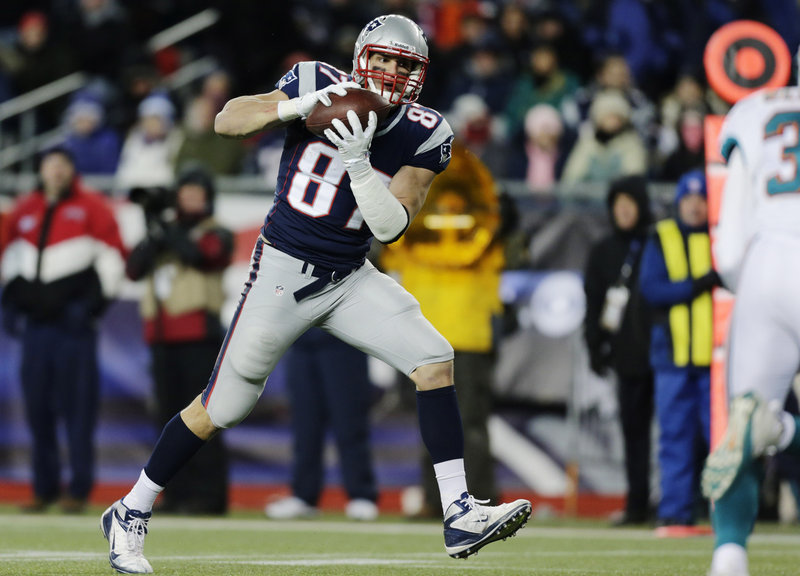 Losing Wes Welker is one of many blows the New England Patriots have suffered this offseason, along with the loss of Danny Woodhead, Aaron Hernandez's off-field issues and Rob Gronkowski's injury situation. Above, Gronkowski catches a pass in 2012.