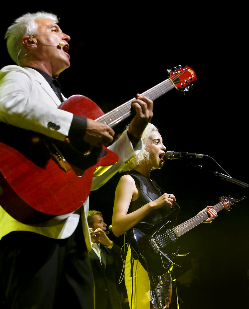 David Byrne and St. Vincent rocked the State Theatre in Portland on Friday, June 21, 2013.