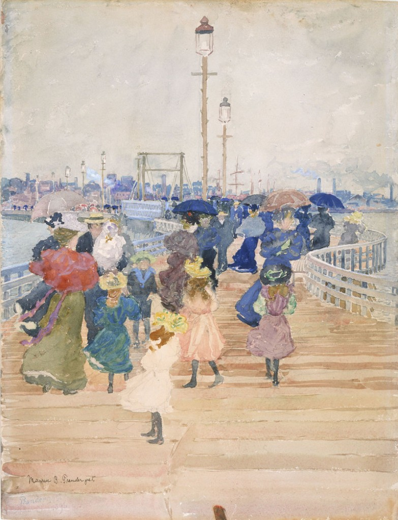"""South Boston Pier,"" 1896, watercolor and graphite."