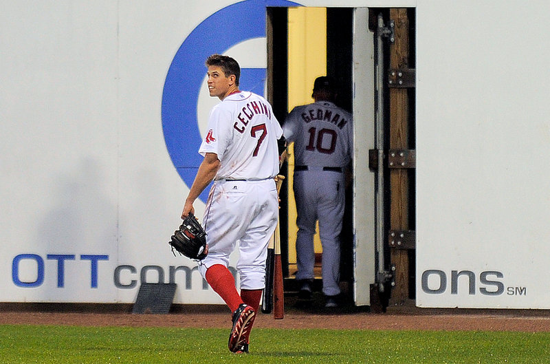 Garin Cecchini has only been with the Portland Sea Dogs since Friday, but he has impressed, going 5 for 16 in four games.