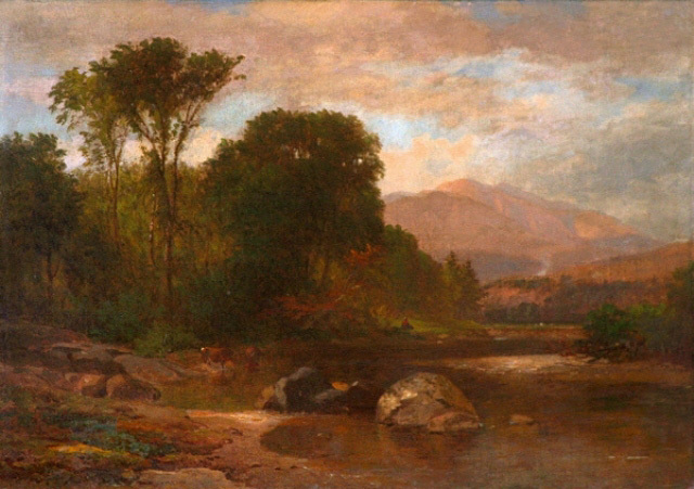 """Mount Washington from the Saco"" by Samuel Lancaster Gerry."