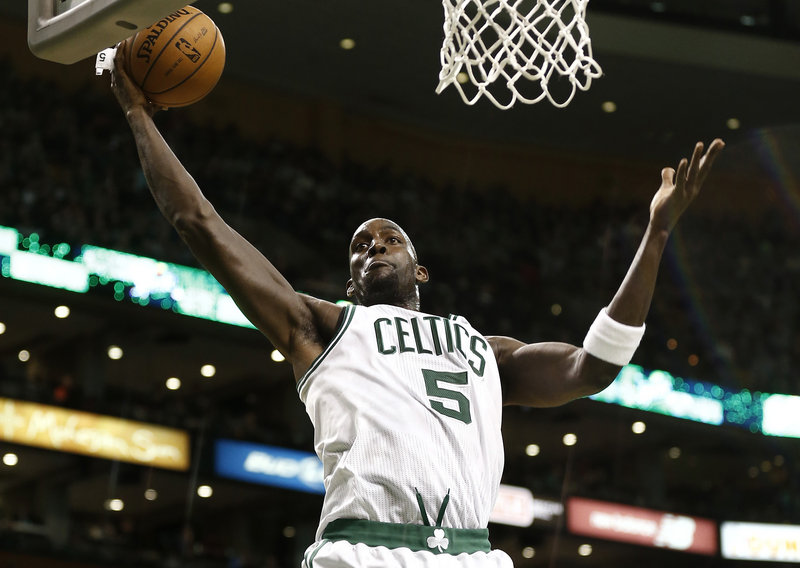 Kevin Garnett helped turn the Celtics around when he joined Paul Pierce and Ray Allen in 2008 to form the nucleus of an NBA championship team.