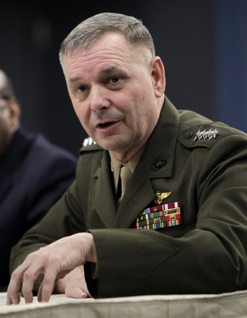Marine Gen. James Cartwright was the vice chairman of the Joint Chiefs of Staff. He retired in 2011 after 40 years of service.
