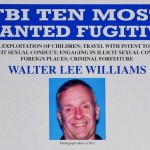 Photo shows a detail of a Federal Bureau of Investigation wanted poster for alleged child sex predator Walter Lee Williams.