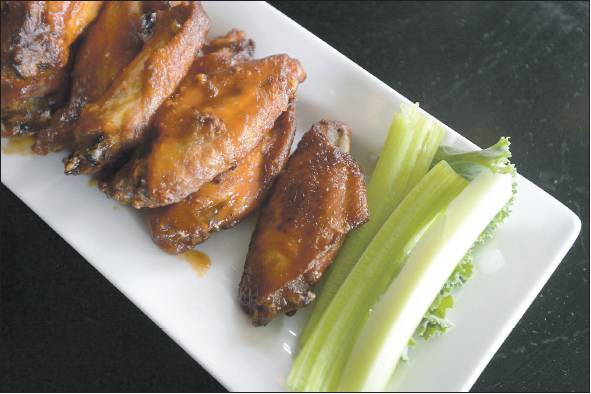 Wings cooked up by Chef Matthew Tremblay of Sea Dog Brewing Co.