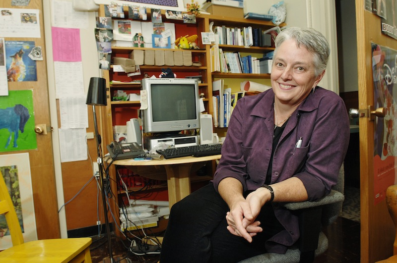 This October 2007 file photo shows Amanda Rowe, the then-Portland Schools nursing coordinator, as well as a nurse at Hall Elementary School. Rowe an outspoken advocate for children's health, died from breast cancer Sunday, July 14, 2013.