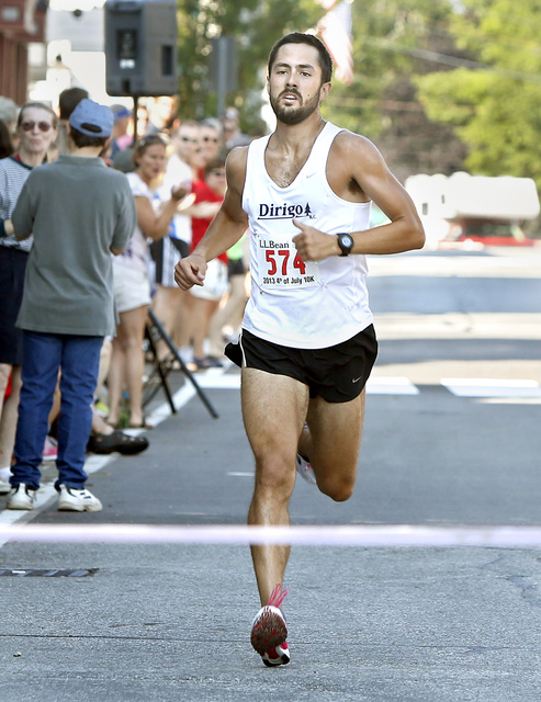 Robert Gomez of Saco wasn't sure what to expect Thursday in his first L.L. Bean 10K road race. What he got was a victory, in a dominating 31 minutes and 52 seconds.