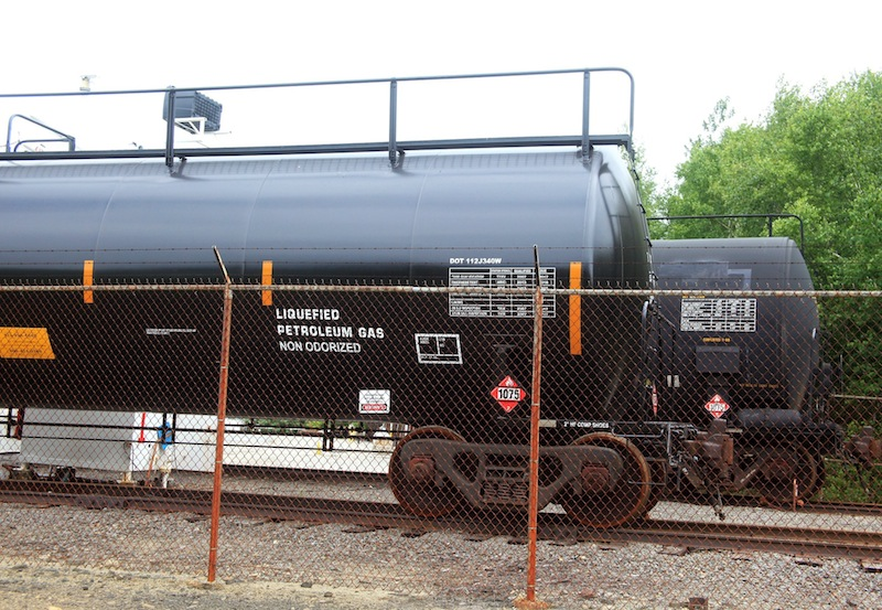 Pan Am Railway tanker cars that carry liquefied propane are parked at the NGL Supply Terminal on West Commercial Street in Portland on Monday, July 8, 2013. DEP spokesman Jessamine Logan said Wednesday that Pan-Am Railways failed to report oil volume for April and May as required by law. The monthly reports must be submitted within 30 days.