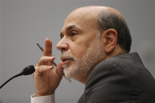 Chairman of the Federal Reserve Ben Bernanke testifies before the House Financial Services Committee on Capitol Hill on Wednesday.