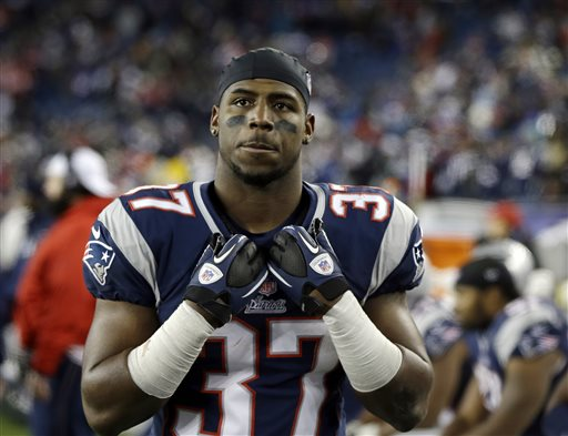New England Patriots cornerback Alfonzo Dennard, in a Jan. 20, 2013, photo.