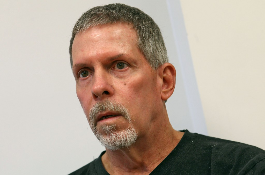 This June 28, 2013 photo shows Michael Boatwright, who refers to himself as Johan Ek, a 61-year-old Florida man who awoke with no memory of his past speaking only Swedish and no English, in Palm Springs, Calif. Police transported Boatwright to the Desert Regional Medical Center in Palm Springs, Calif. after he was found unconscious in a Motel 6 room in February.