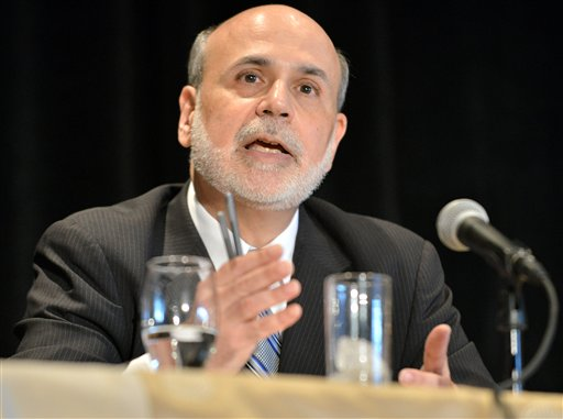 Federal Reserve Board Chairman Ben Bernanke speaks at the National Bureau of Economic Research last Wednesday.