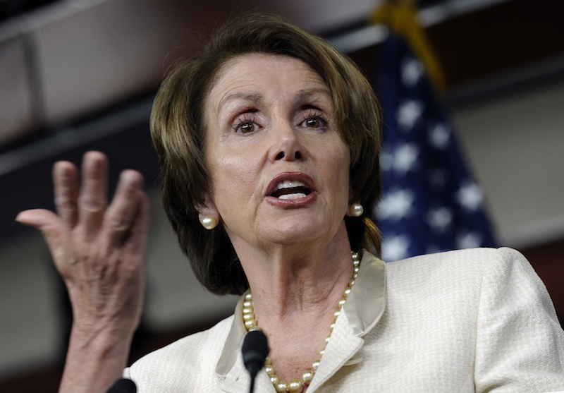 In this photo taken June 27, 2013, House Minority Leader, Democrat Nancy Pelosi of California, speaks at a Capitol Hill news conference in Washington. The Republican chairman of the House Judiciary Committee said Sunday, June 30, that any attempt at comprehensive immigration legislation cannot offer a